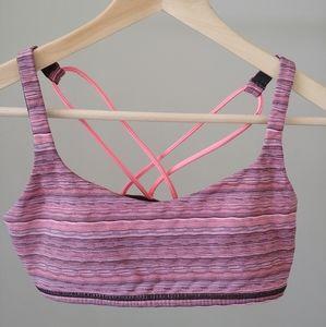Lululemon Free To Be Bra Space Dye Pink Size 6